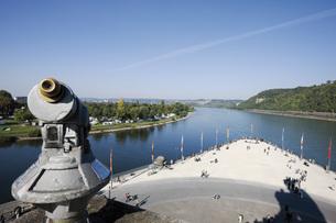 Germany, Rhineland-Palatinate, Koblenz, Deutsches Eckの写真素材 [FYI04333485]