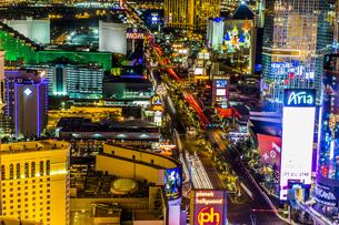 USA, Nevada, Las Vegas at nightの写真素材 [FYI04333516]