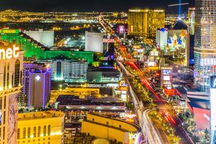 USA, Nevada, Las Vegas at nightの写真素材 [FYI04333557]