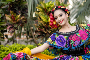 Mexico, Jalisco, Xiutla dancer, folkloristic Mexican dancerの写真素材 [FYI04333648]