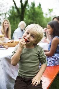 Boy on a garden partyの写真素材 [FYI04333672]