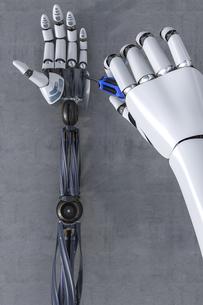 3D Rendering, Robot hand reparing robot handのイラスト素材 [FYI04334074]