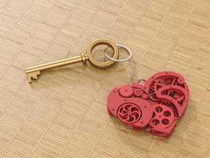 Cogwheel heart on keyringのイラスト素材 [FYI04334116]