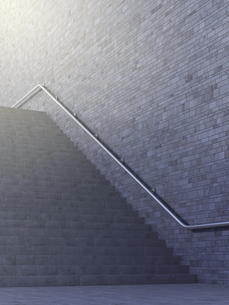 Empty staircase, 3d renderingのイラスト素材 [FYI04334138]