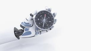 Robot hand holding compassのイラスト素材 [FYI04334146]