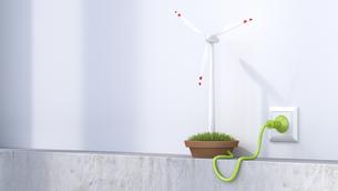 3D Rendering, Wind wheel producing electricityのイラスト素材 [FYI04334160]