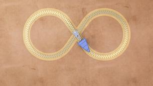 Infinity zip, 3D Renderingのイラスト素材 [FYI04334167]