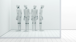Robots out of order, storeroom, 3D Renderingのイラスト素材 [FYI04334172]