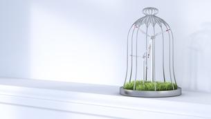 Wind turbines in cage on shelfのイラスト素材 [FYI04334187]