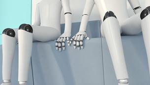 Two robots in love, 3D Renderingのイラスト素材 [FYI04334194]
