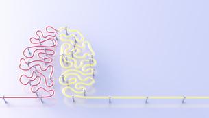 Fluorescent lamps forming brain, 3d renderingのイラスト素材 [FYI04334205]