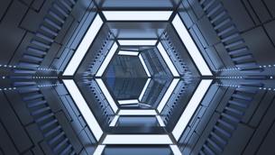Futuristic tunnel, 3d renderingのイラスト素材 [FYI04334212]
