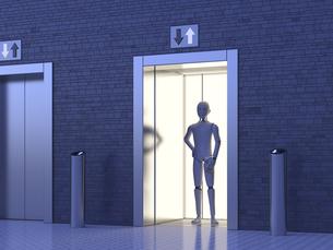 Robot standing in elevatorのイラスト素材 [FYI04334215]