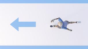 Robot running, 3d renderingのイラスト素材 [FYI04334224]