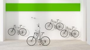 Robot renting a bike, 3d renderingのイラスト素材 [FYI04334236]