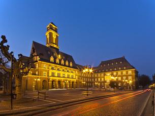 Germany, North Rhine Westphalia, Bottrop, View of Town Hallの写真素材 [FYI04334351]