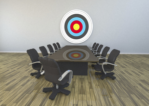 3D Rendering, Meeting Room With Targetのイラスト素材 [FYI04334414]