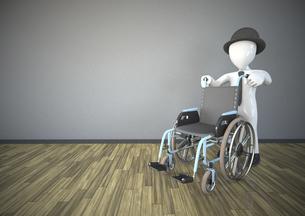Illustration, Manikin with a wheelchairのイラスト素材 [FYI04334417]