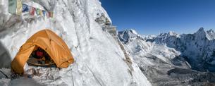 Nepal, Himalaya, Solo Khumbu, Camp 3, Ama Dablam South Westの写真素材 [FYI04334477]