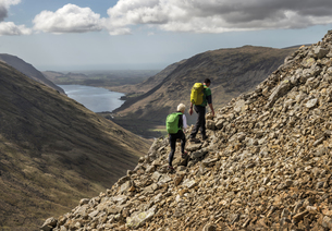 England, Cumbria, Lake District, Wasdale Valley, Great Gableの写真素材 [FYI04334479]