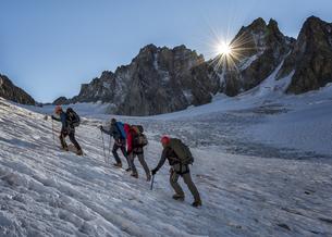 France, Chamonix, Argentiere Glacier, Les Droites, Les Courtの写真素材 [FYI04334507]
