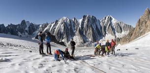 France, Chamonix, Argentiere Glacier, les Droites, Les Courtの写真素材 [FYI04334513]