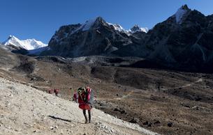 Nepal, Himalaya, Khumbu, Everest region, Cho laの写真素材 [FYI04334514]