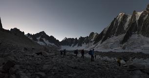 France, Chamonix, Argentiere Glacier, les Droites, Les Courtの写真素材 [FYI04334515]