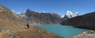 Nepal, Himalaya, Khumbu, Everest region, Renjo La, Gokyo Lakの写真素材 [FYI04334518]