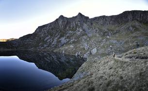 UK, North Wales, Snowdonia, Craig Cwm Silynの写真素材 [FYI04334527]