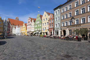 Germany, Bavaria, Landshut, old town, historic  buildings atの写真素材 [FYI04334578]