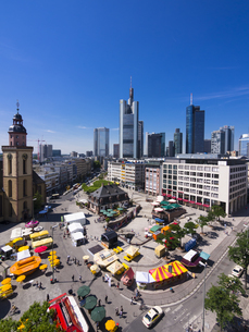Germany, Hesse, Frankfurt, View to financial district with Cの写真素材 [FYI04334613]