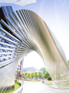 Germany, Hesse, Frankfurt, modern office towersの写真素材 [FYI04334639]