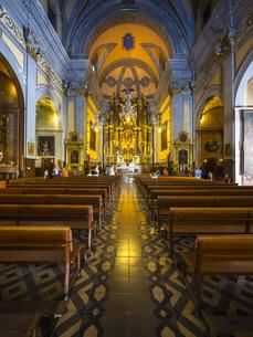 Spain, Mallorca, Soller, Interior of San Bartomeu Churchの写真素材 [FYI04334665]