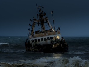 Namibia, Dorob National Park, Henties Bay, Zeila ship wreckの写真素材 [FYI04334681]