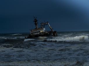 Namibia, Dorob National Park, Henties Bay, Zeila ship wreckの写真素材 [FYI04334682]