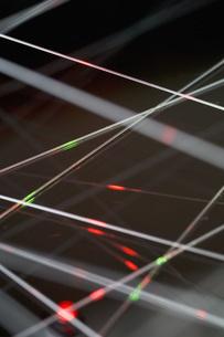Network with fiber lightsの写真素材 [FYI04334812]