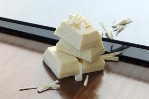 White chocolateの写真素材 [FYI04334910]