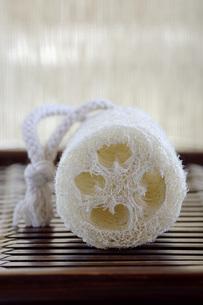 ^Loofah sponge, close-upの写真素材 [FYI04334999]