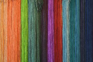 Multi-colored silk ribbonsの写真素材 [FYI04335096]