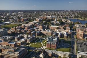 USA, Washington, D.C., Aerial photograph of Howard Universitの写真素材 [FYI04335347]