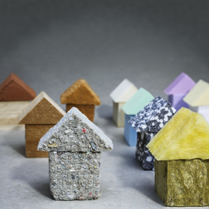 Green building, organic building materialsの写真素材 [FYI04335439]
