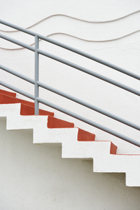 USA, California, San Francisco, stairs with wave pattern atの写真素材 [FYI04335618]