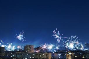 Bulgaria, Sofia, New Years Eve, Fireworksの写真素材 [FYI04335731]