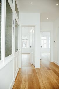 House with empty rooms and open doorsの写真素材 [FYI04335897]
