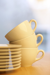 Coffee cups and saucersの写真素材 [FYI04335973]
