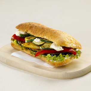 Sandwich with vegetablesの写真素材 [FYI04336012]
