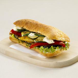Sandwich with vegetablesの写真素材 [FYI04336012]
