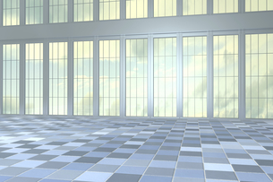 Empty hall in a high-rise building, 3D Renderingのイラスト素材 [FYI04336187]