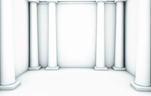Empty white room with six columns,の写真素材 [FYI04336194]
